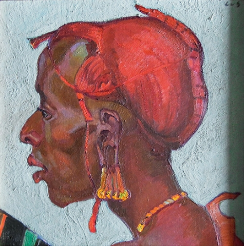 Carl Albert von Salis, Massai in DOA, Eines der seltenen Porträts.